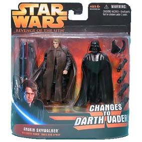 Anakin changes to Vader