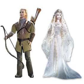 Galadriel + Legolas (Barbie)