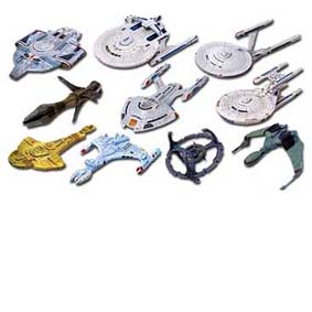 Naves do Star Trek (conj. c/ 10)