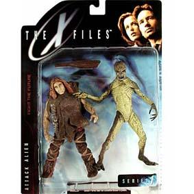 Alien + Homem Primitivo (Arquivo X) X-files McFarlane Toys Action Figures