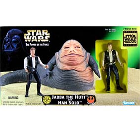 Jabba the Hutt with han solo (POTF)
