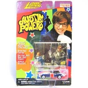 Jaguar Austin Powers marca Johnny Lightning escala 1/64