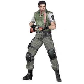 Boneco Resident Evil Chris Redfield ed. 10 anos (aberto)