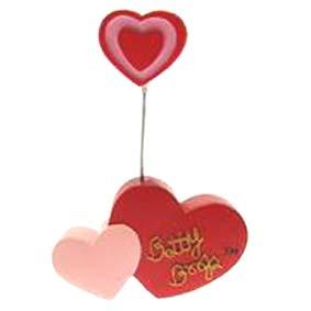 Betty Boop porta recado de coração