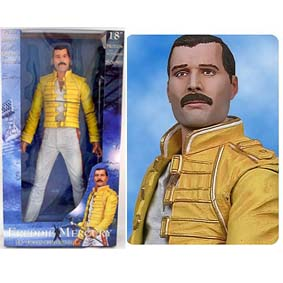 Freddie Mercury Queen (c/ som) marca Neca Toys action figures