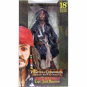 Captain Jack Sparrow Dead Man Chest (c/ som) Johnny Depp
