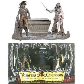 Cursed Barbossa vs. Cursed Jack Sparrow (Johnny Depp)