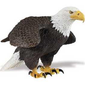 Águia de cabeça branca ( Miniaturas de Aves Safari Ltd ) 251029 Bald Eagle