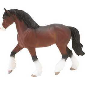 Égua Clydesdale ( miniatura de cavalo Safari Ltd ) 30028