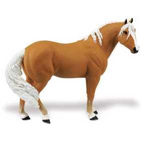 Égua Palomino ( Miniatura de Cavalo Safari Blue Ribbon Collectibles ) 30034