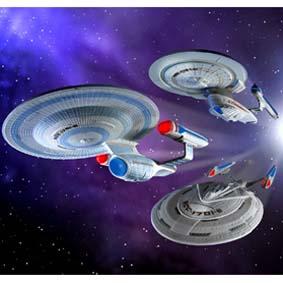 Kit Uss Enterprise Set Filme (1701-B / 1701-C / 1701-E)