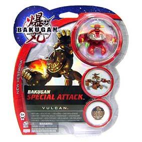 Bakugan Special Attack vulcan vermelho