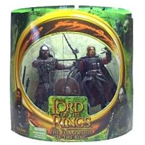 Bonecos do Senhor dos Anéis Boromir vs Lurtz