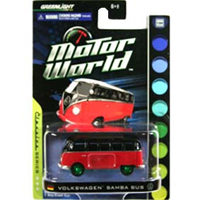 1/64 Green Machine :: Greenlight Collectibles Cars Motor World VW Samba Bus Kombi