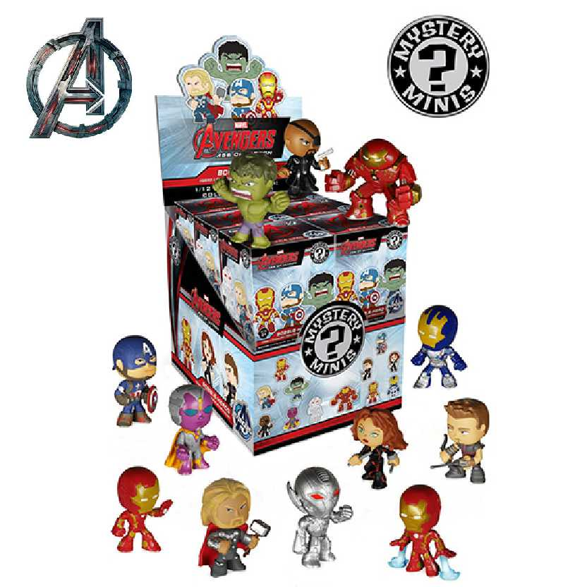 12 Bonecos Funko Marvel Mystery Minis Avengers (Vingadores) Age of Ultron