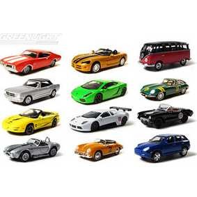 12 Miniaturas da Greenlight Motor World série 1 R1 96010 escala 1/64