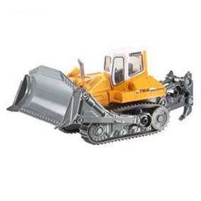 Miniatura de Trator Esteira Liebherr 764 Bulldozer escala 1/87 HO Siku 1888