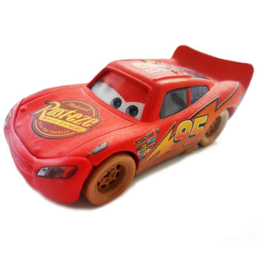 Disney Pixar Cars Dirt Track Lightning McQueen Carros número 3 com movimento nos olhos