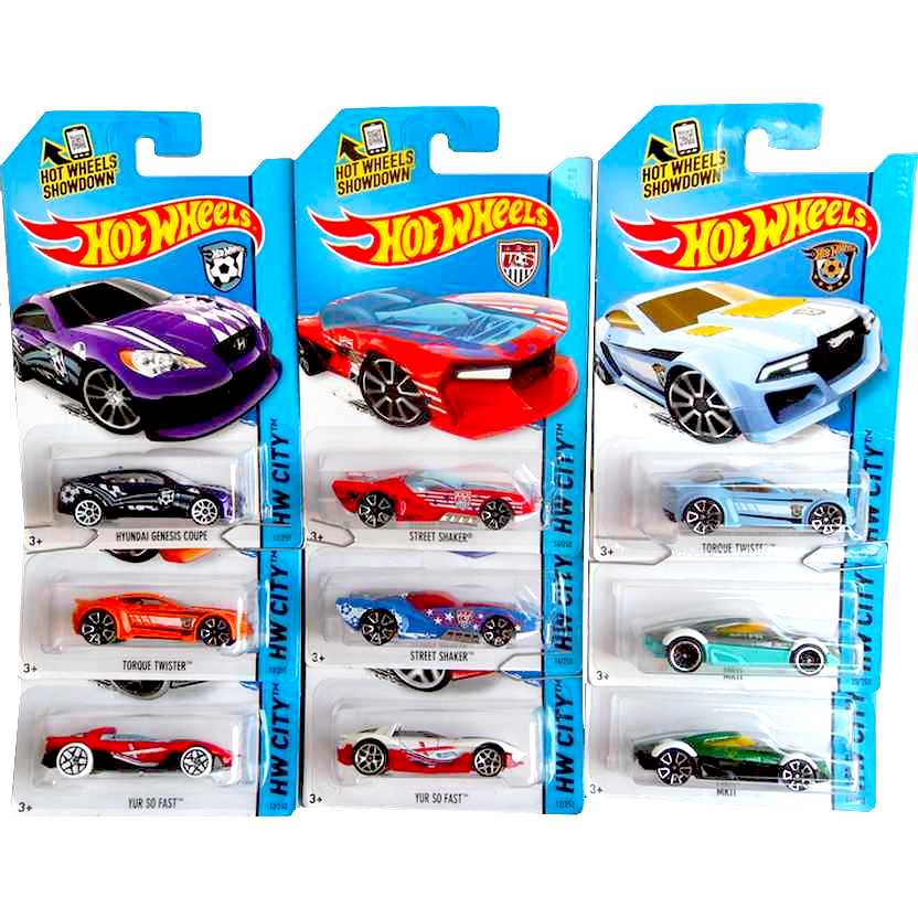 19 miniaturas 2014 Hot Wheels Copa do Mundo FIFA World Cup (Copa do Mundo) HW City