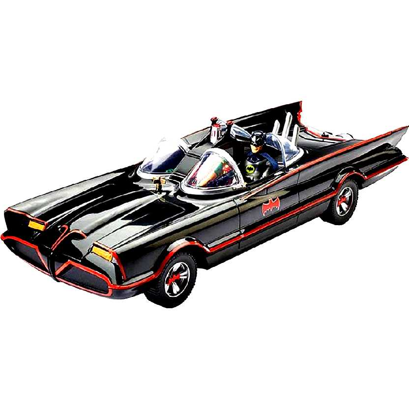 1966 Batmóvel Hot Wheels Batman (Adam West) e Robin Classic TV series Batmobile DJJ39