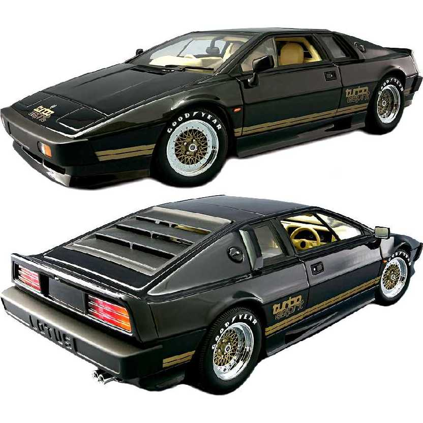 1980 Lotus Esprit Turbo Essex (Type 79) coupe preta marca Autoart escala 1/18 código 70061