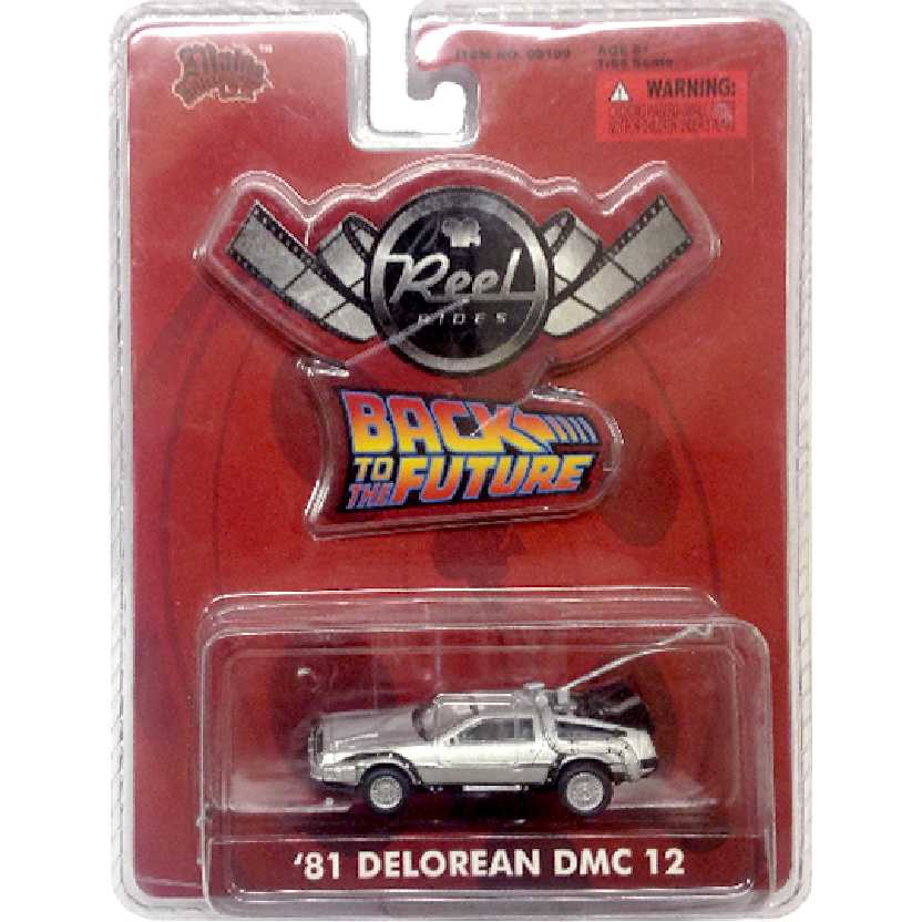 1981 Delorean DMC12 De Volta para o Futuro (Back to The Future) Malibu Int. escala 1/64
