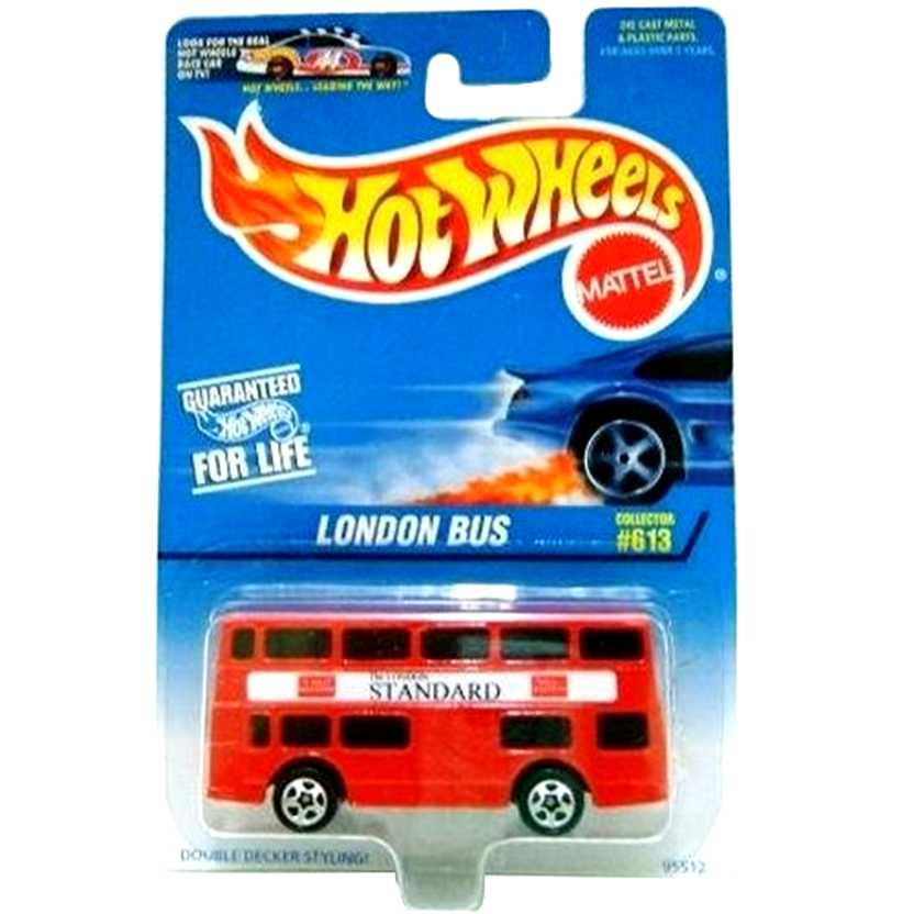1996 Hot Wheels London Bus ( ônibus de Londres ) Collector #613 95512 Raridade