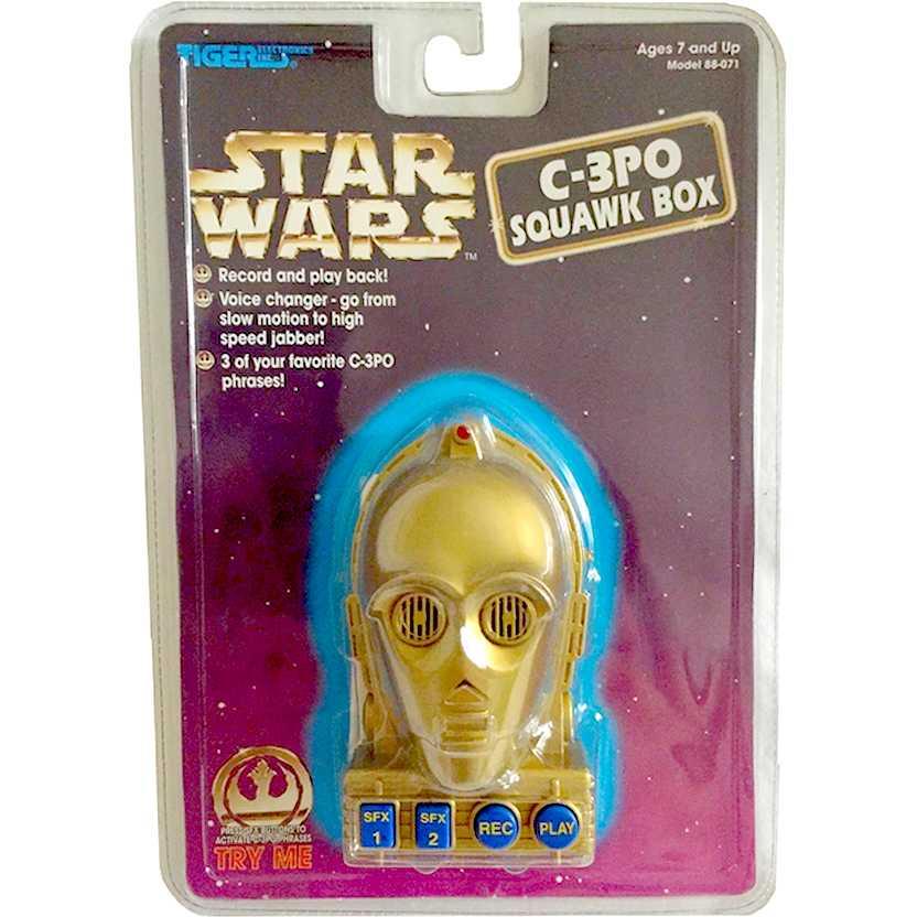 1997 Star Wars (Guerra nas Estrelas) Simulador de voz do C-3PO - grava e simula a voz do robô