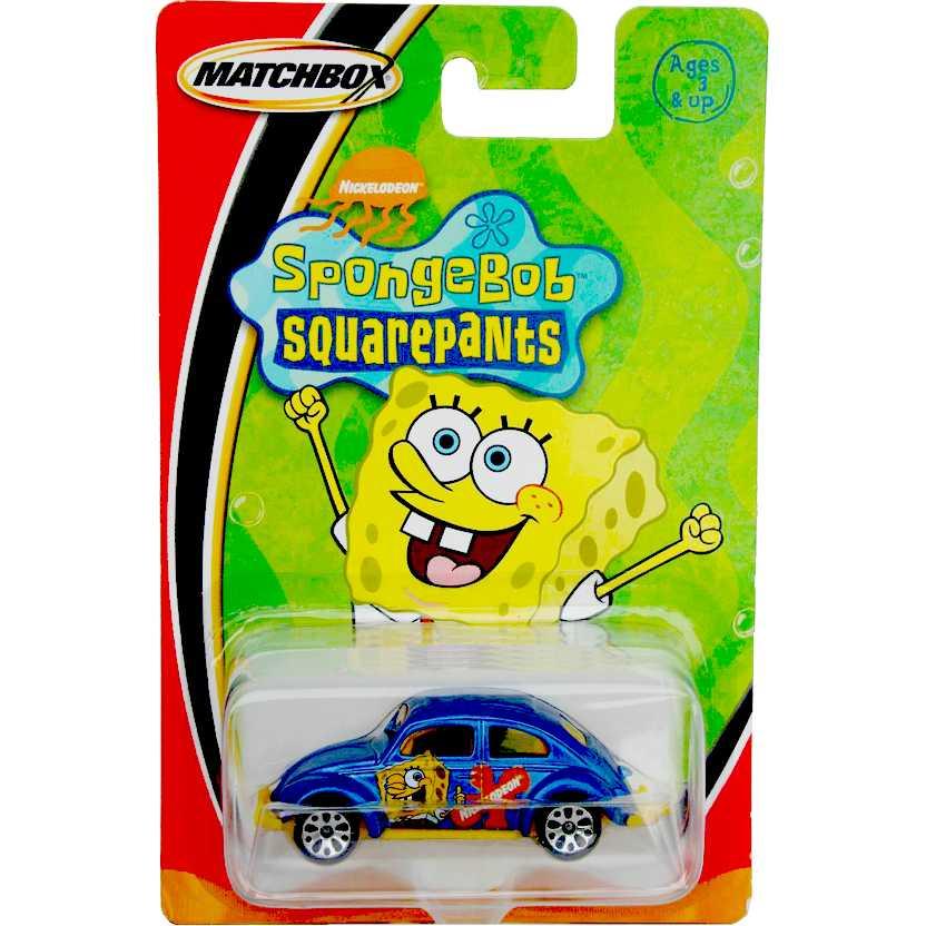 1998 Matchbox 1962 VW Beetle (Fusca) Nickelodeon Spongebob (Bob Esponja) C0240 escala 1/64