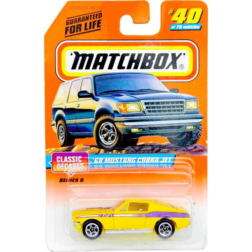 1998 Matchbox 68 Mustang Cobra Jet #40/75 Classic Decades series 5 33940 escala 1/64