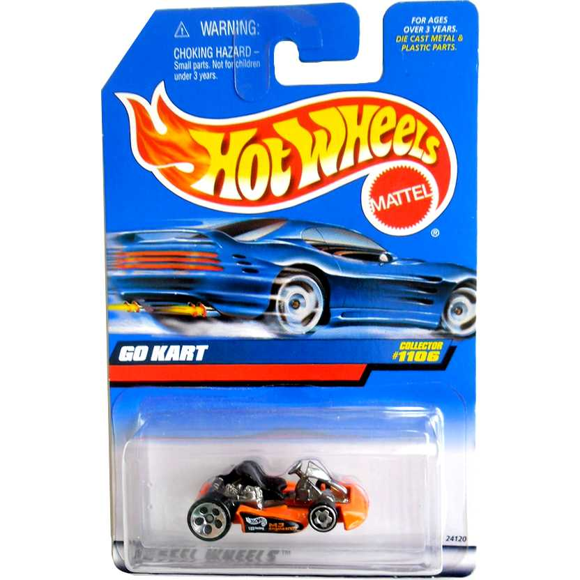 1999 Hot Wheels Go Kart Laranja escala 1/64 Collector 1106 24120