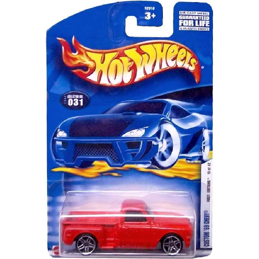 2002 Hot Wheels Custom 69 Chevy pickup 52916 series 031/2002 19/42 escala 1/64