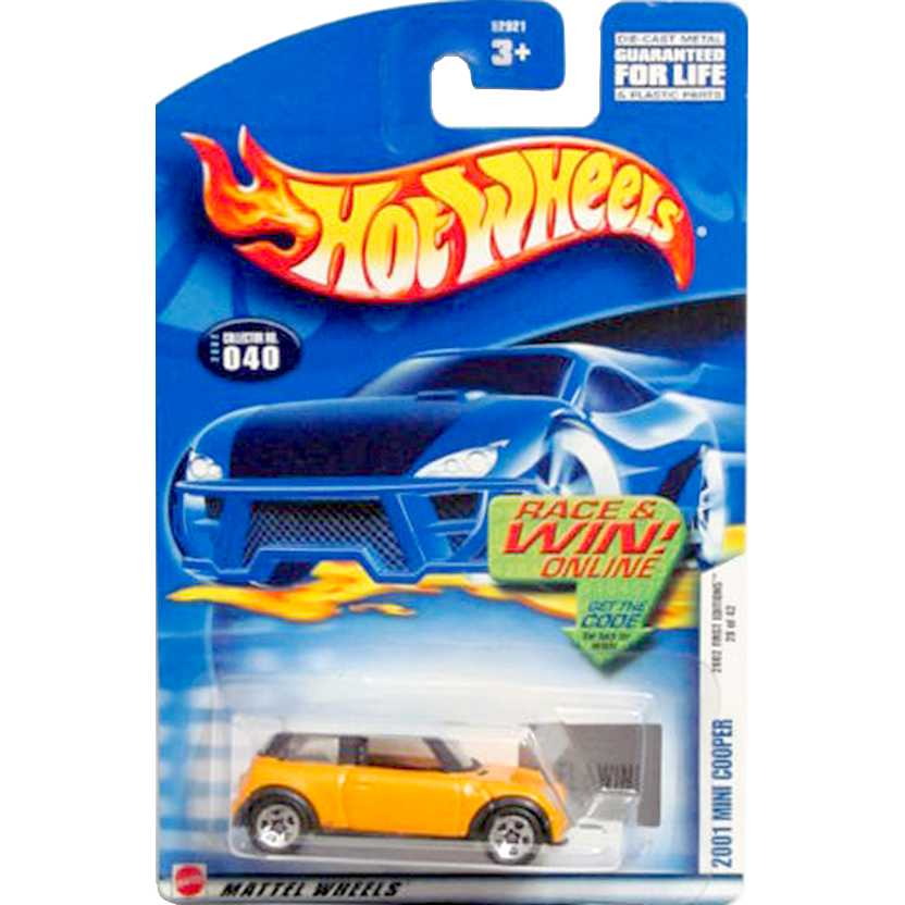 2002 Hot Wheels First Editions 2001 Mini Cooper escala 1/64 series 28 of 42 52921
