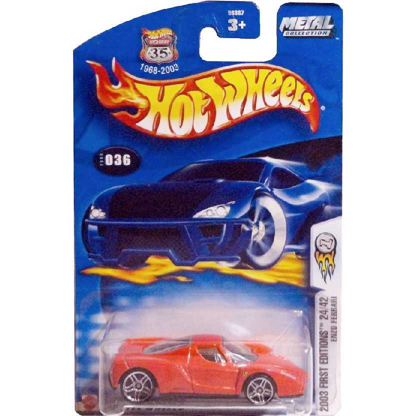 2003 Hot Wheels Enzo Ferrari com logos series 24/42 036/2003 escala 1/64 56387 RARIDADE