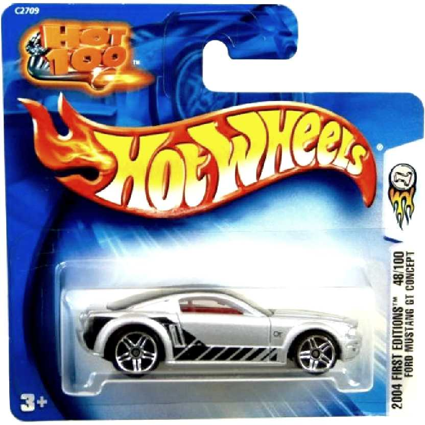 2004 Hot Wheels First Editions Ford Mustang GT Concept 48/100 C2709 escala 1/64