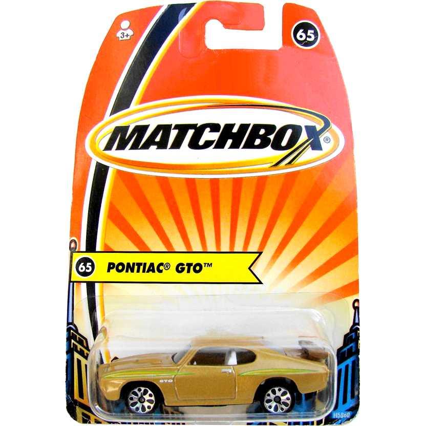 2005 Matchbox 1970 Pontiac GTO #65 H5860 escala 1/64