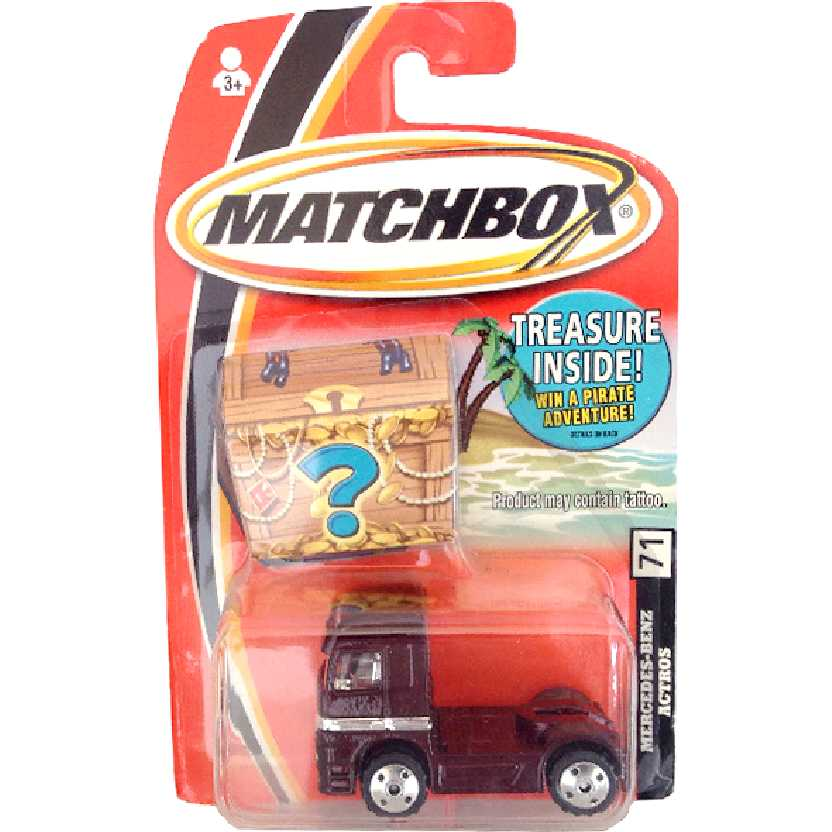 2005 Matchbox Caminhão Mercedes-Benz Actros 1857 series 71 H1881 escala 1/64