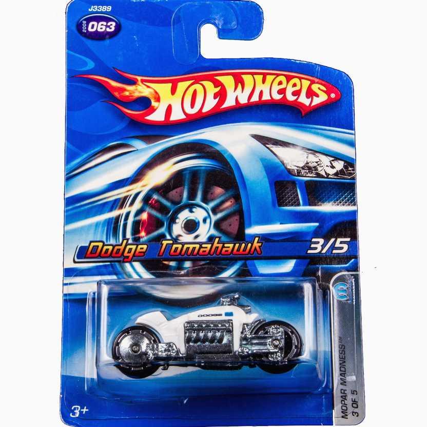 2006 Hot Wheels Dodge Tomahawk J3389 #063 series 3/5 escala 1/64