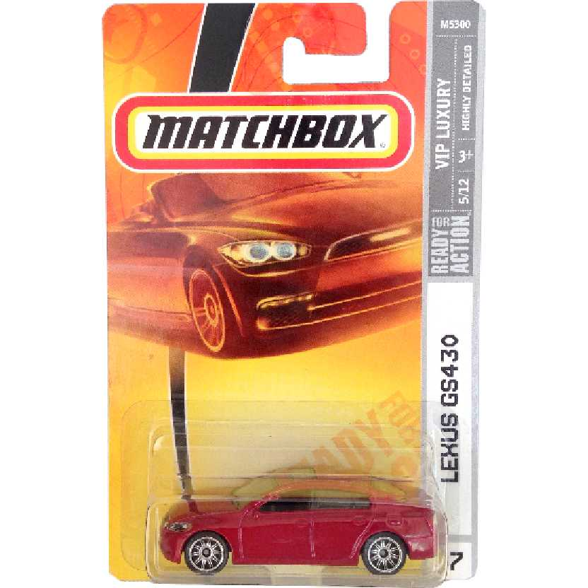 2006 Matchbox Lexus GS430 series 5/12 #37 M5300 escala 1/64