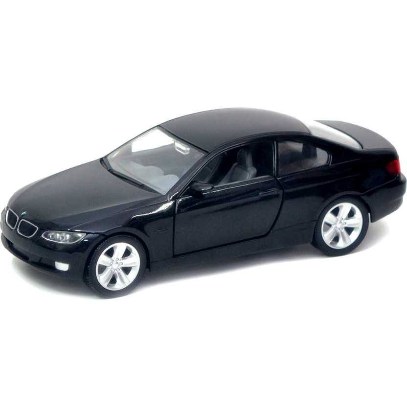 2007 BMW 335i 2 portas cor preta marca Yat Ming escala 1/24