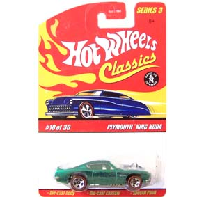 2007 Hot Wheels Classics Plymouth King Kuda L0738 series 3 Spectraflame Green