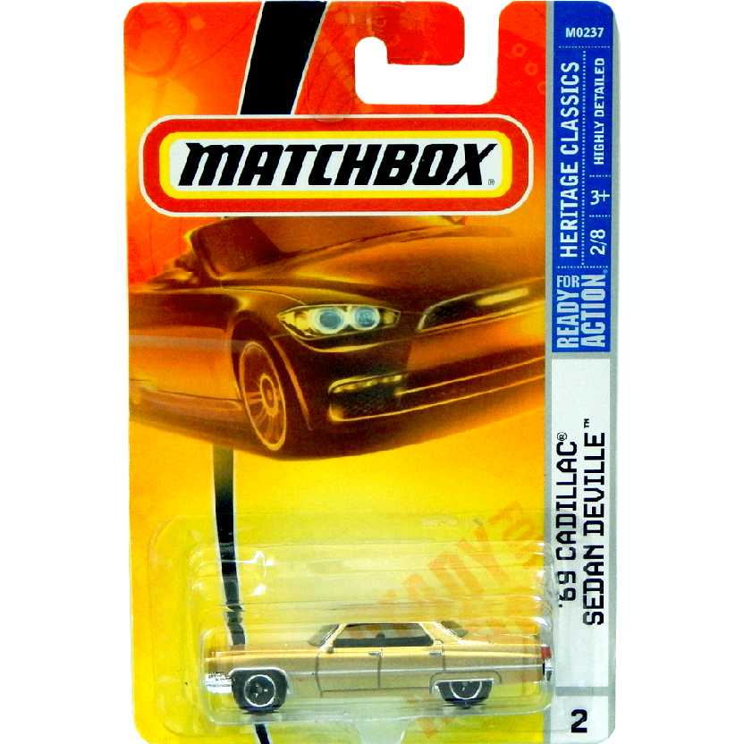 2007 Matchbox 1969 Cadillac Sedan Deville series M0237 escala 1/64
