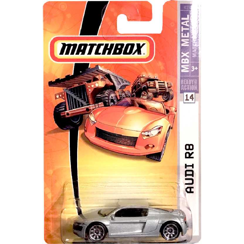 2007 Matchbox Audi R8 ( carro do Tony Stark / Homem de Ferro / Iron Man ) #14 K7487 escala 1/64