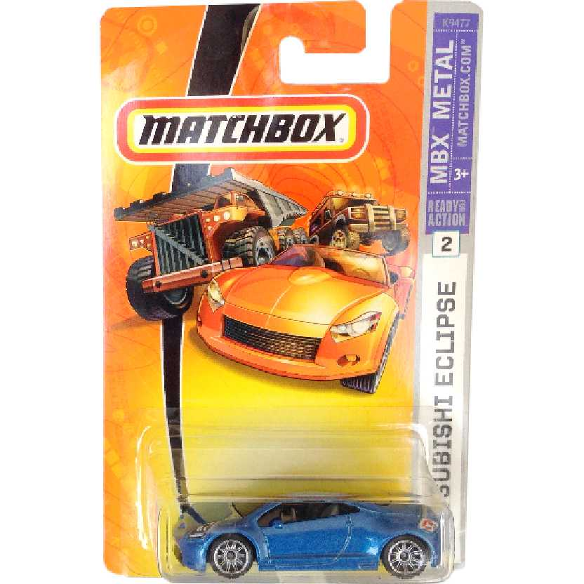 2007 Matchbox Mitsubishi Eclipse #2 K9477 escala 1/64