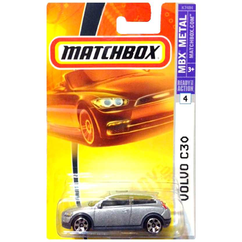 2007 Matchbox Volvo C30 prata #4 escala 1/64 K7484 ( carro do Edward Cullen / Crepúsculo )