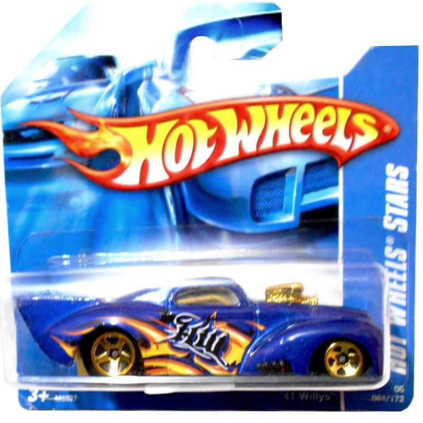 2008 Hot Wheels 41 Willys azul M6927 series 061/172 escala 1/64