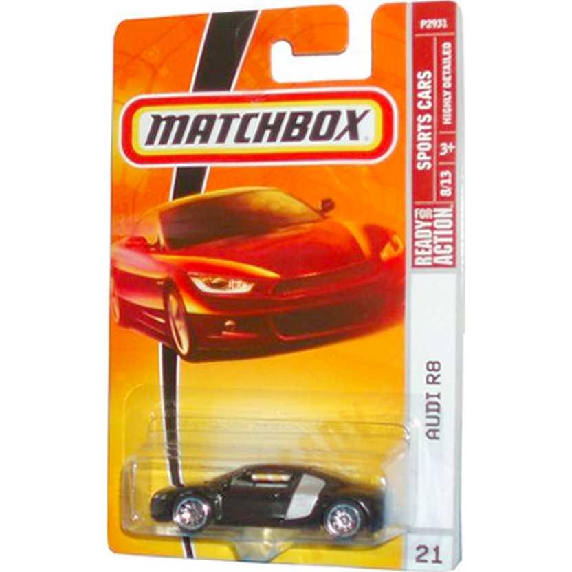 2008 Matchbox Audi R8 escala 1/64 P2931 8/13 #21 RARO