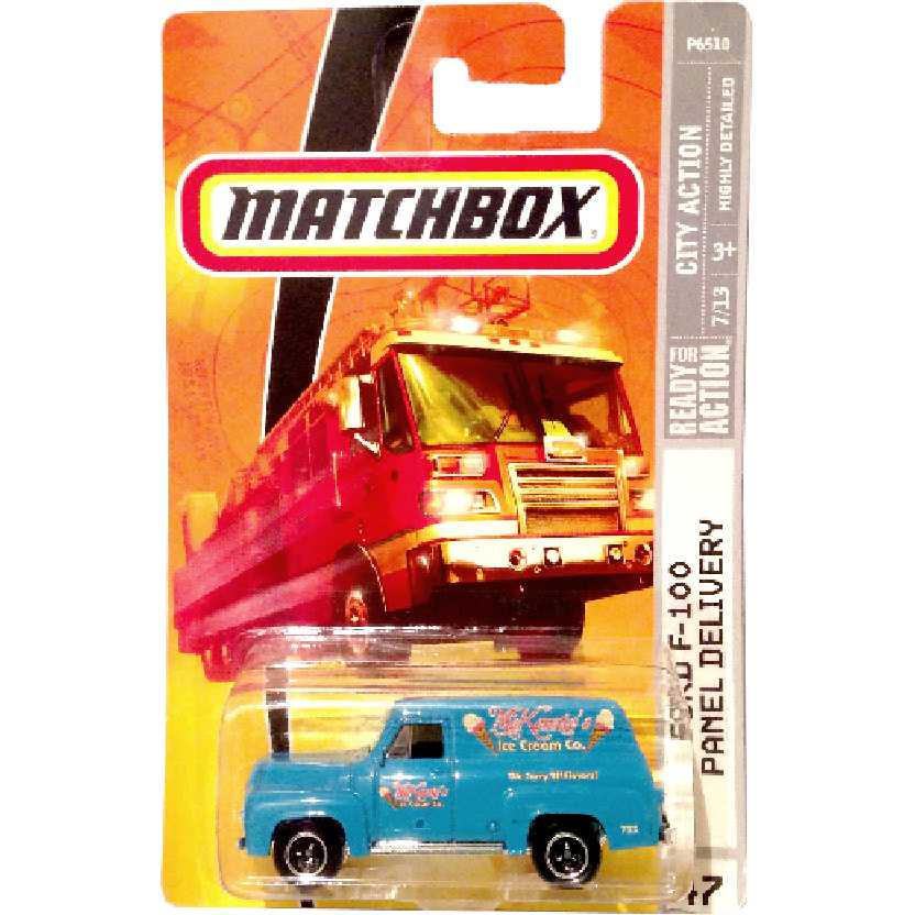2008 Matchbox Ford F-100 Panel Delivery #47 7/13 P6510 escala 1/64