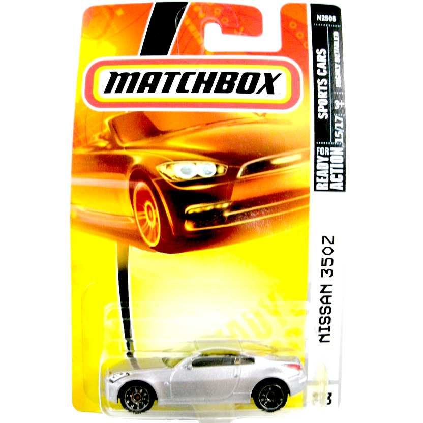 2008 Matchbox Nissan 350Z N2508 #23 series 15/17 escala 1/64
