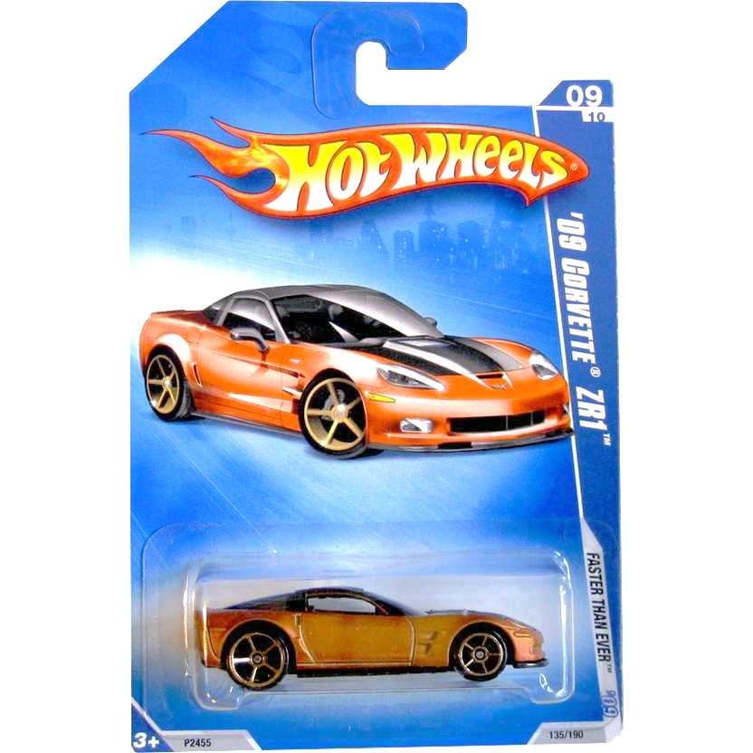 2009 Hot Wheels 09 Corvette ZR1 Faster Than Ever escala 1/64 P2455 série 09/10 135/166
